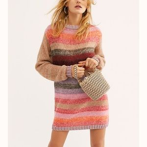 Free People: NWOT Striped Sweater Mini Dress!